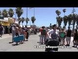 Venice Beach California Street Performers Flip Flopping