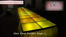 glass portable stage,aluminum portable stage,events stage for sale,portable show glass stage,events stage for sale
