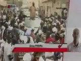 [ JT Wolof ] - 14 mars 2012 -  Le cortège de Macky Sall attaqué à St Louis et Kébémer