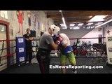 Boxer vs Brawler Sparring - Eddie Alicea Pure Boxer (gray) vs Maniako Brawler (white)