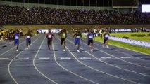"""Jamaïque: """"L'Eclair"""" Usain Bolt illumine une dernière fois Kingston"""