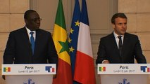Déclaration conjointe d'Emmanuel Macron avec M. Macky SALL, Président de la République du Sénégal. - vidéo Dailymotion