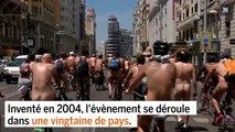 Des cyclistes tout nus roulent pour soutenir le vélo