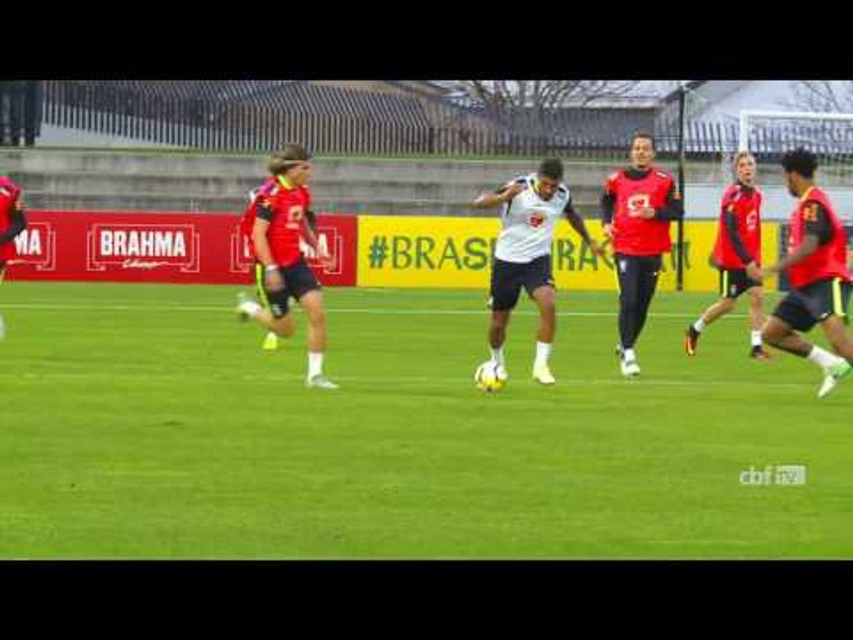 Último treino da Seleção Brasileira na Austrália