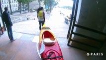 On a testé le kayak sur le bassin de la Villette