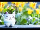 Bricolage Fête des pères DIY : Un joli pot de fleurs récup' en forme de chat