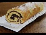 Roulé à la pâte au Nutella maison (recette pâte à tartiner facile chocolat-noisette)