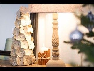 DIY Noël : Centre de table sapin en papier
