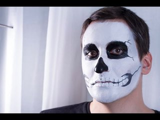 Maquillage Halloween : Le squelette