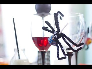 Déco Halloween : Sucettes araignées