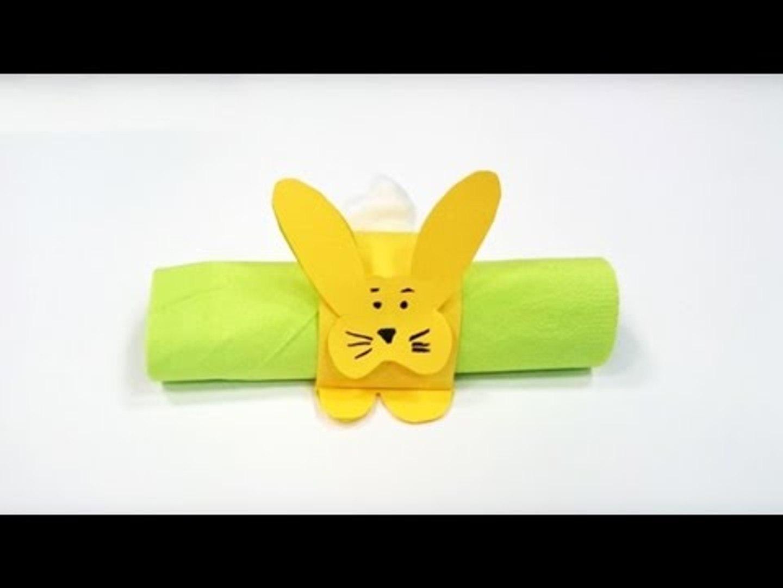 Rond De Serviette A Fabriquer Pour Noel fabriquer un rond de serviette lapin de pâques. bricolage de pâques.