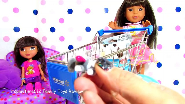 SURPRISE TOYS IN WAdfgrLMART SHOPPING CART with AG Doll Ashlyn _