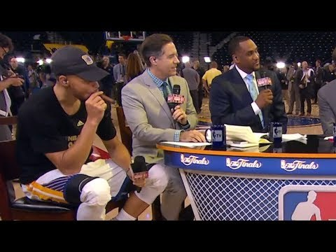 Stephen Curry Having Smoke With Klay Thompson after Winning Championship | 2017 NBA Finals