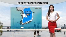 Passing rain showers along with thunder and lightning in inland regions
