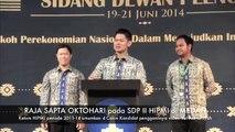 46.Raja Sapta Oktohari [Ketum BPP HIPMI] perkenalkan ke 4 calon kandidat bakal penggantinya