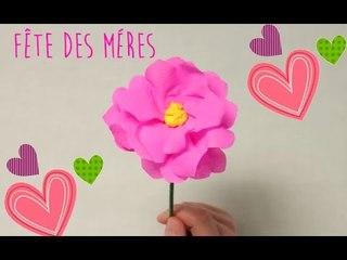 Comment faire une fleur en papier crépon ? - DIY cadeau Fête des Mères.