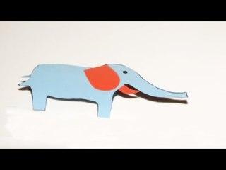 Fabriquer un éléphant en papier