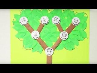 DIY Fêtes des pères. Fabriquer un arbre généalogique en papier