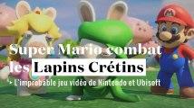 Super Mario affronte les Lapins Crétins dans un jeu vidéo
