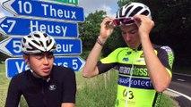 Verviers: Julien Stassen teste le début de la seconde étape du Tour de France (Verviers - Longwy)