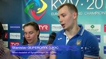 European Diving Championships-Kyiv, Viktoriya KESAR, Stanislav OLIFERCHYK(UKR) Silver medalists of Synchronised 3m-Mixed