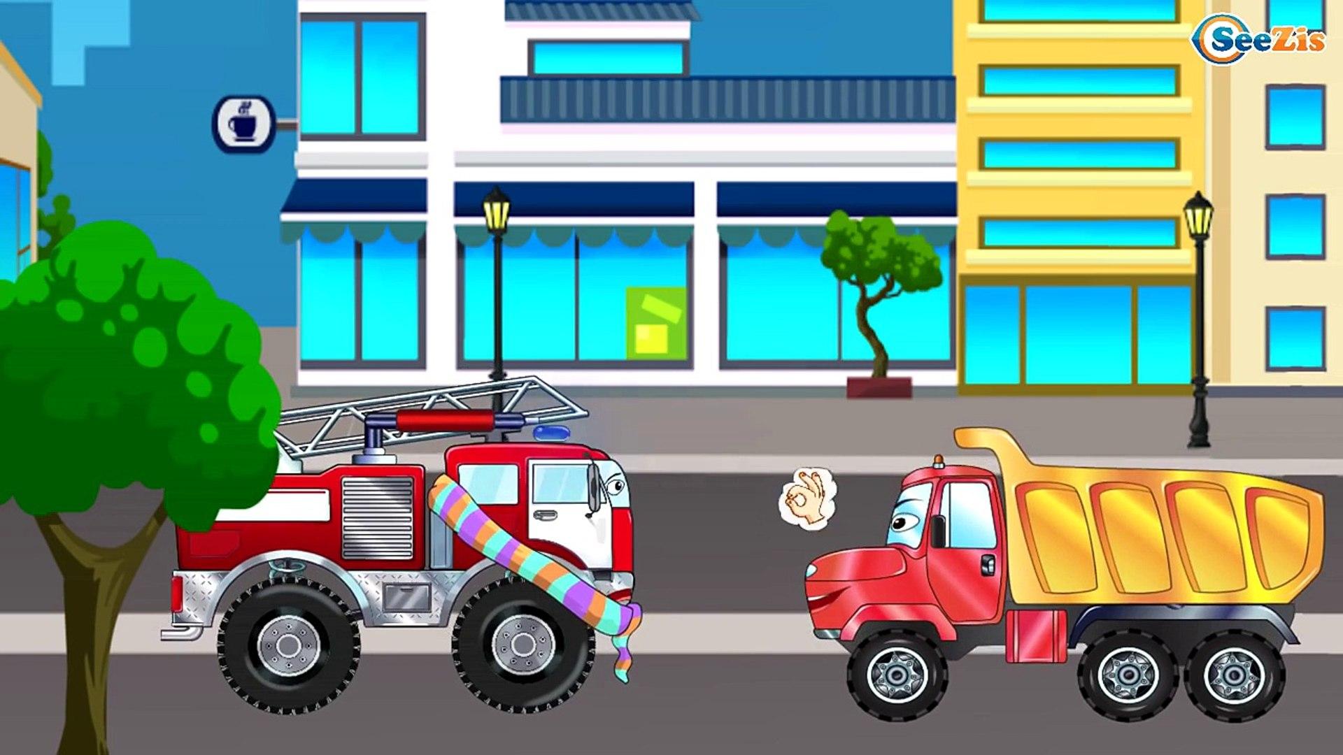 Ambulans, Kamyon ve Yarış Arabası - Eğitici Çizgi Film - Akıllı Arabalar - Türkçe İzle Bölüm 2,Çocuk