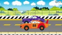 Eğitici çizgi film - Mavi Polis Arabası ve Yarış Arabası - Akıllı Arabalar - Türkçe İzle,Çocuklar için çizgi filmler izle 2017