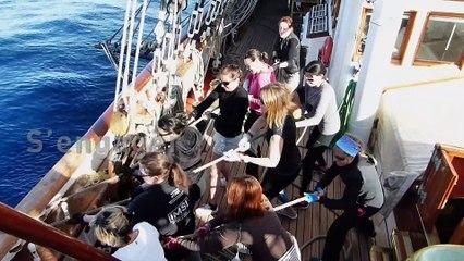35 postières, Gazelles de la Mer, à Bord du Belem pour la TALL SHIPS REGATTA 2017