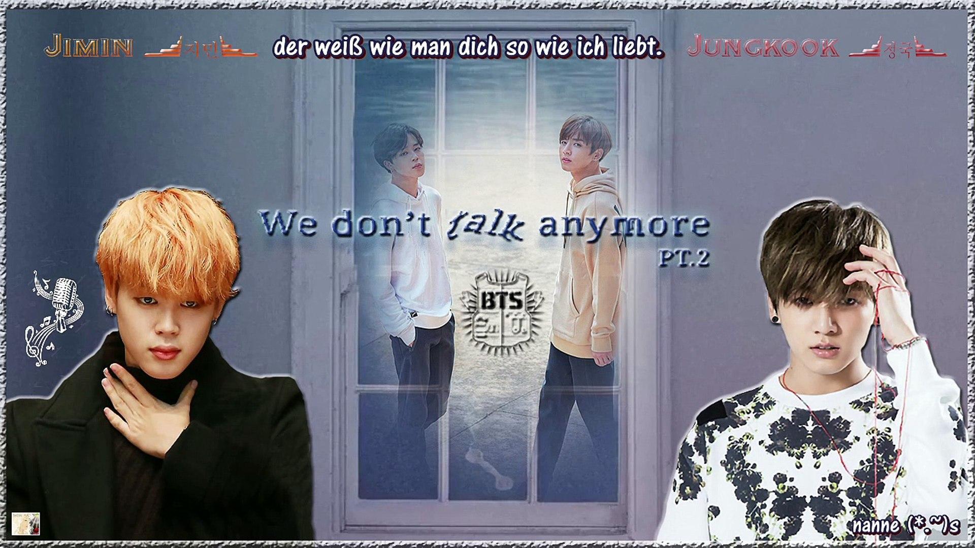 Jungkook Jimin Of Bts We Don T Talk Anymore Pt 2 German