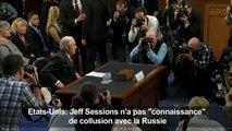 """Jeff Sessions n'a pas """"connaissance"""" de collusion avec la Russie"""