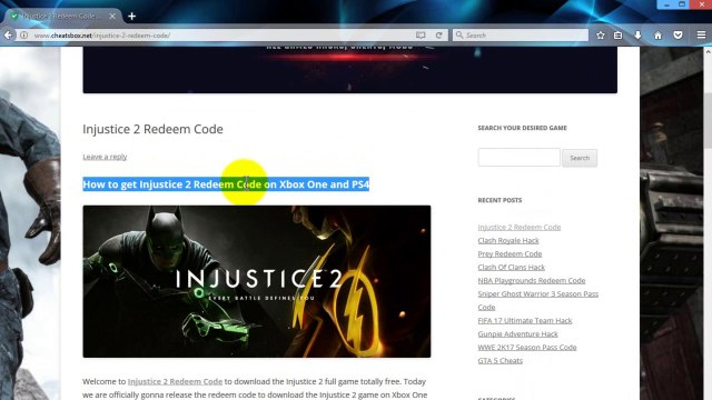 Injustice 2 Redeem Codes Giveaway - Xbox One, PS4