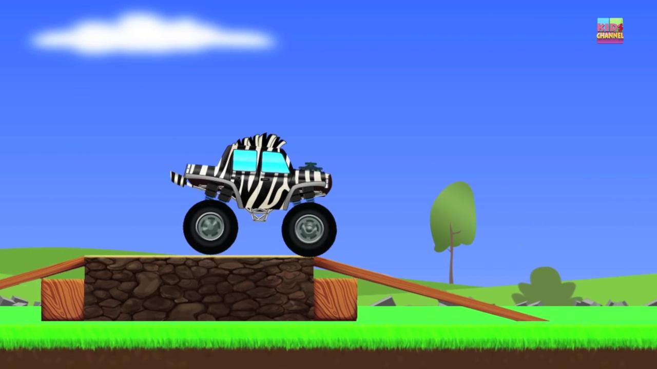 Monster Trucks _ Zebra Trucks _ Car And Truck-Flkj