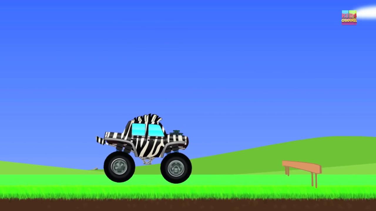Monster Trucks _ Zebra Trucks _ Car And Truck-F