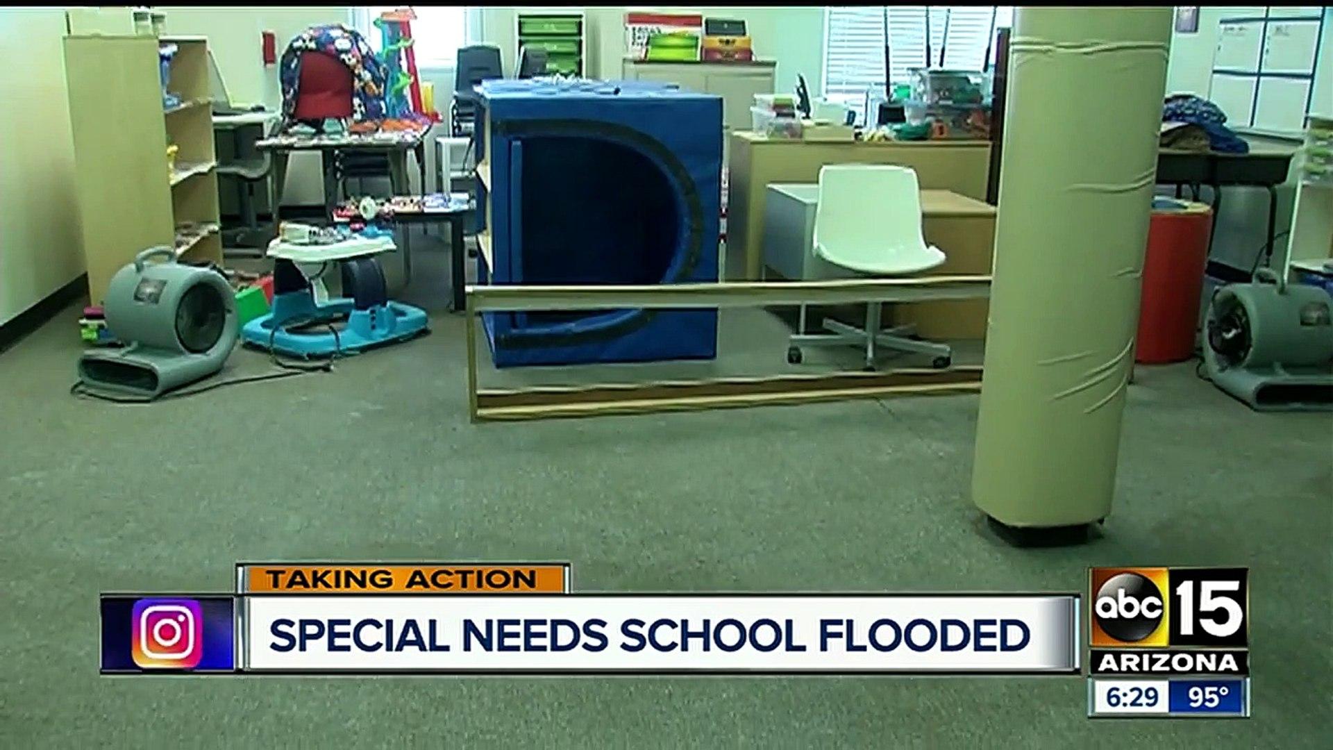 Water leak damages Tempe non-profit special needs school