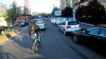 Ce cycliste se fait renverser par un russe au volant !