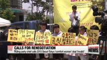 Ruling party leader calls for renegotiation of 2015 sex slave deal between Seoul-Tokyo