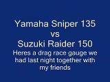 494.Sniper Rextor CDI T135 vs Raider Stock CDI open muffler