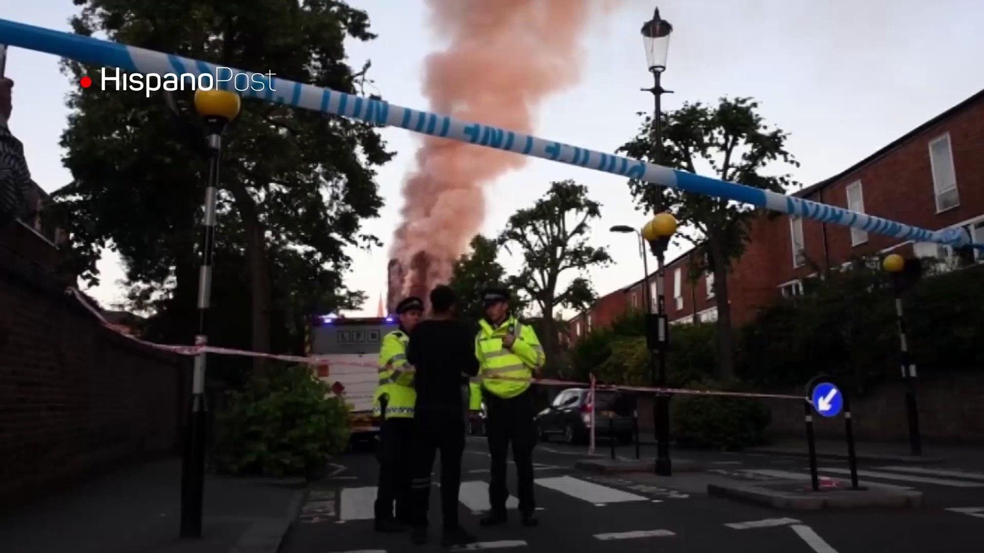 Varios muertos tras voraz incendio en edificio residencial de Londres
