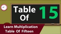 Learn 15x Table Multiplication   15 Times Table   Learn Fifteen Multiplication Tables For Kids