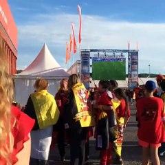 Nous sommes ici à Sclessin pour voir sur grand écran les Belgian Red Devils gagner contre la Suède!