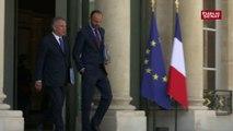 François Bayrou et Edouard Philippe quittent ensemble le Conseil des ministres