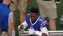 NFL - Tyrod Taylor prend un bain de bouche en plein match