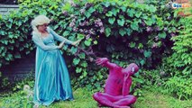 Frozen Elsa Spiderman Playing Games New Episodes! /w Pink Spidergirl, Hulk Superheroes in Real Life