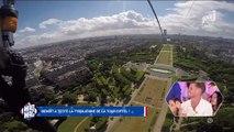 Le Mad Mag : Benoît saute en tyrolienne de la Tour Eiffel-12juin2017