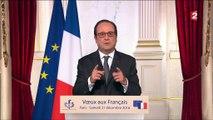 Voeux du président de la République, monsieur François Hollande - Depuis le Palais de l'Elysée (31-12-2016 20h)