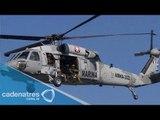 Atacan helicóptero de la Marina en Nuevo Laredo, Tamaulipas