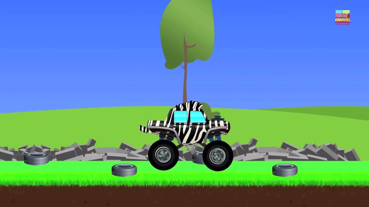 Monster Trucks _ Zebra Trucks _ Car And T
