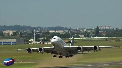 Vol d'entraînement A380 - Salon du Bourget 2017