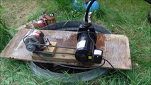 Water pump converted to belt drive, (well jet pump) H
