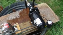 Water pump converted to belt drive, (well jet pump) How